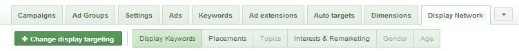 google adwords new display network tab