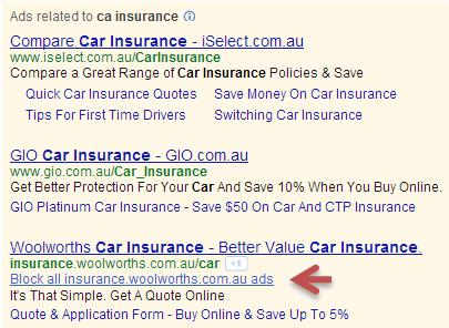 google adwords block this ad