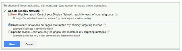 google adwords display network flexible reach