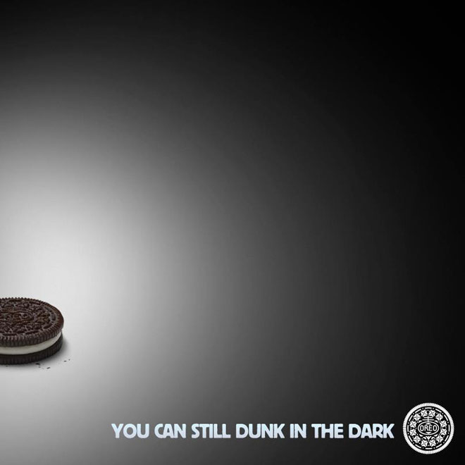 Oreas dunk in the dark superbowl ad