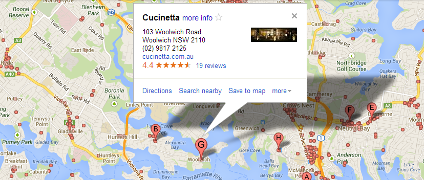Local map search result in more detail