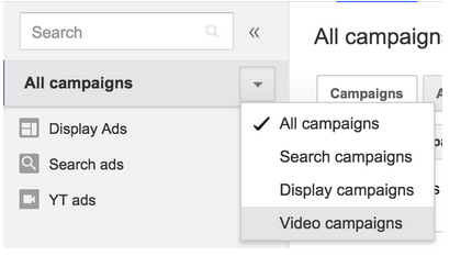 campaign type selector