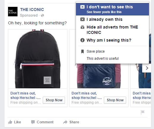facebook dislike selections