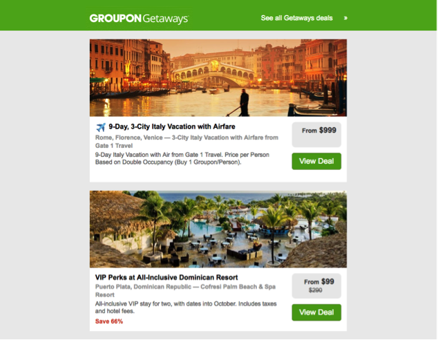 groupon email content