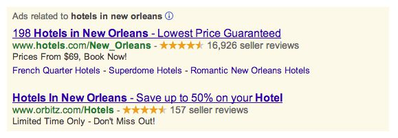 hotel search ads