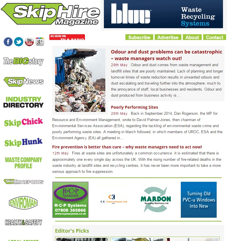 skip hire good content example