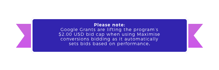 Google Ad Grant CPC bids