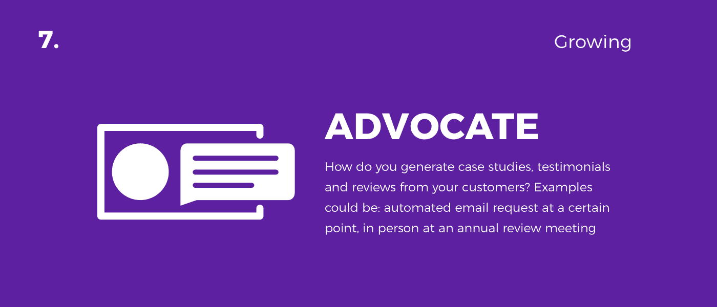 advocate - customer journey
