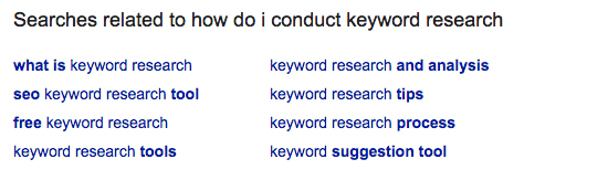 related semantic keywords screenshot